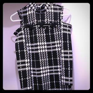 Cold-shoulder sweater dress
